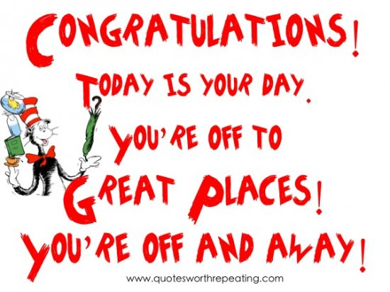 Dr Seuss Today Is Your Day Quote: Dr Seuss Graduation Quotes Poems. QuotesGram
