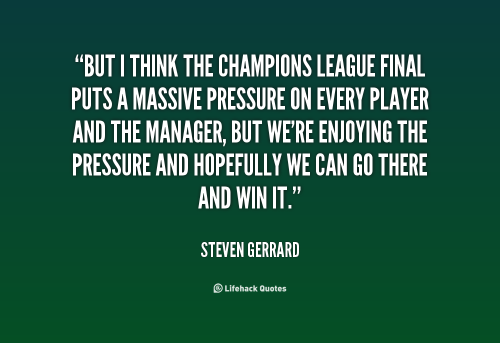 champions league quote