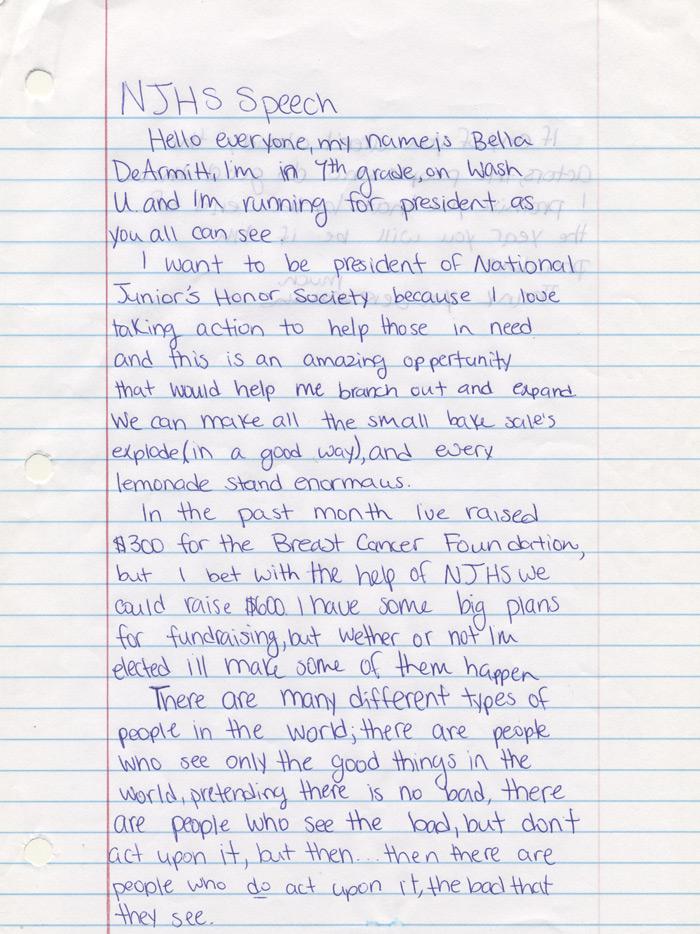 Njhs Essay Example