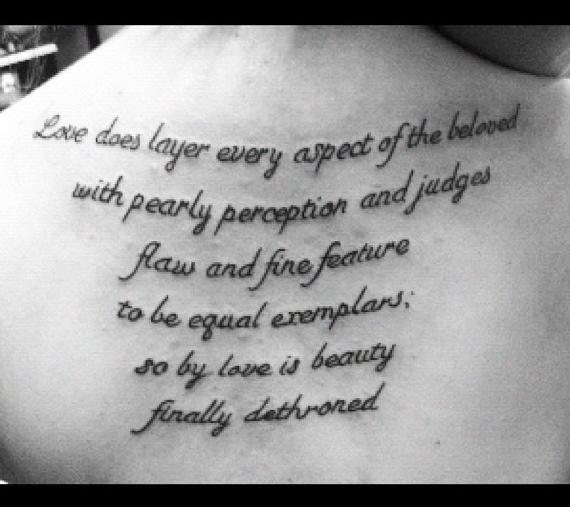 Tattoo Quotes And Poems Quotesgram: Body Art Tattoos Quotes. QuotesGram