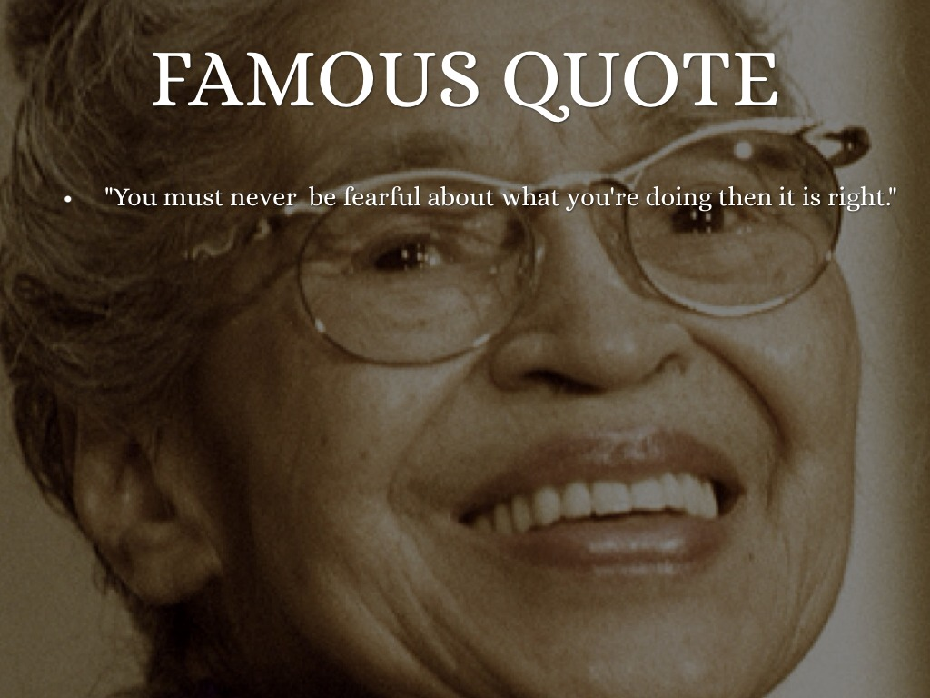 Famous Quotes: Rosa Parks Famous Quotes. QuotesGram