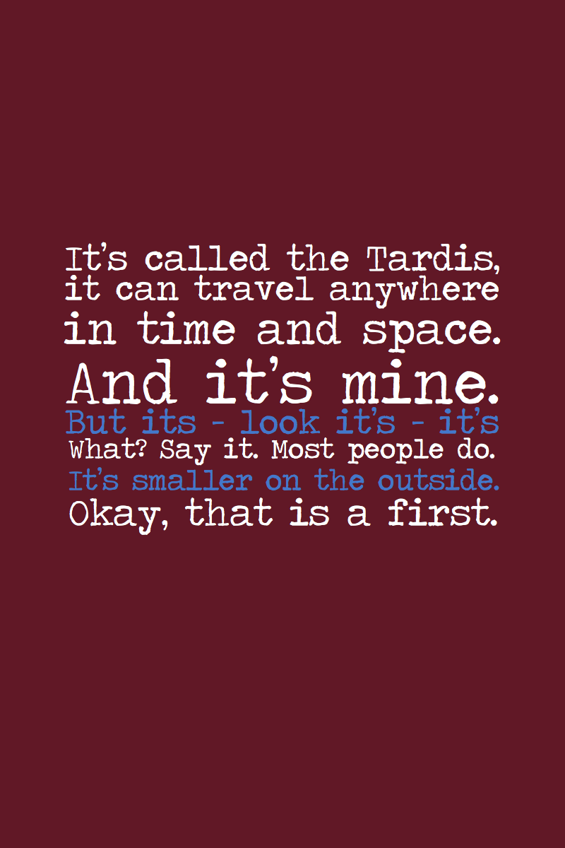Meaningful Doctor Who ...