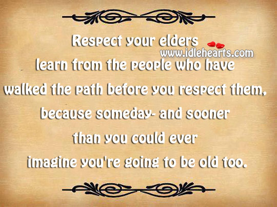 an essay on respect your elders