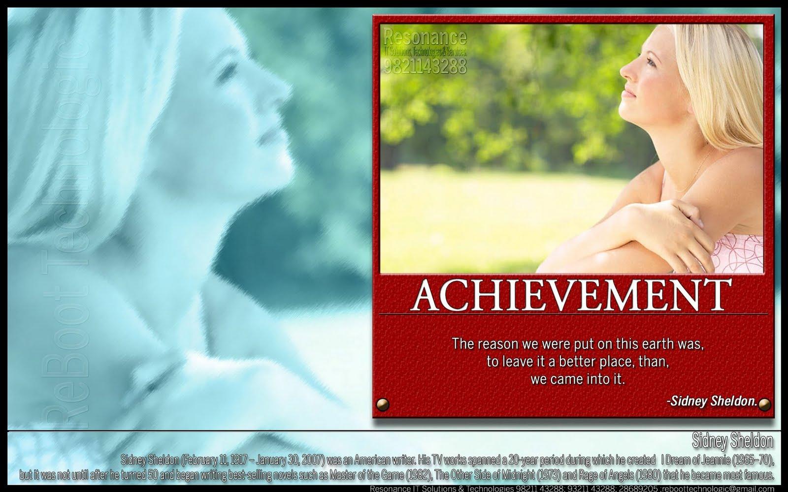Inspirational Quotes About Achievement. QuotesGram