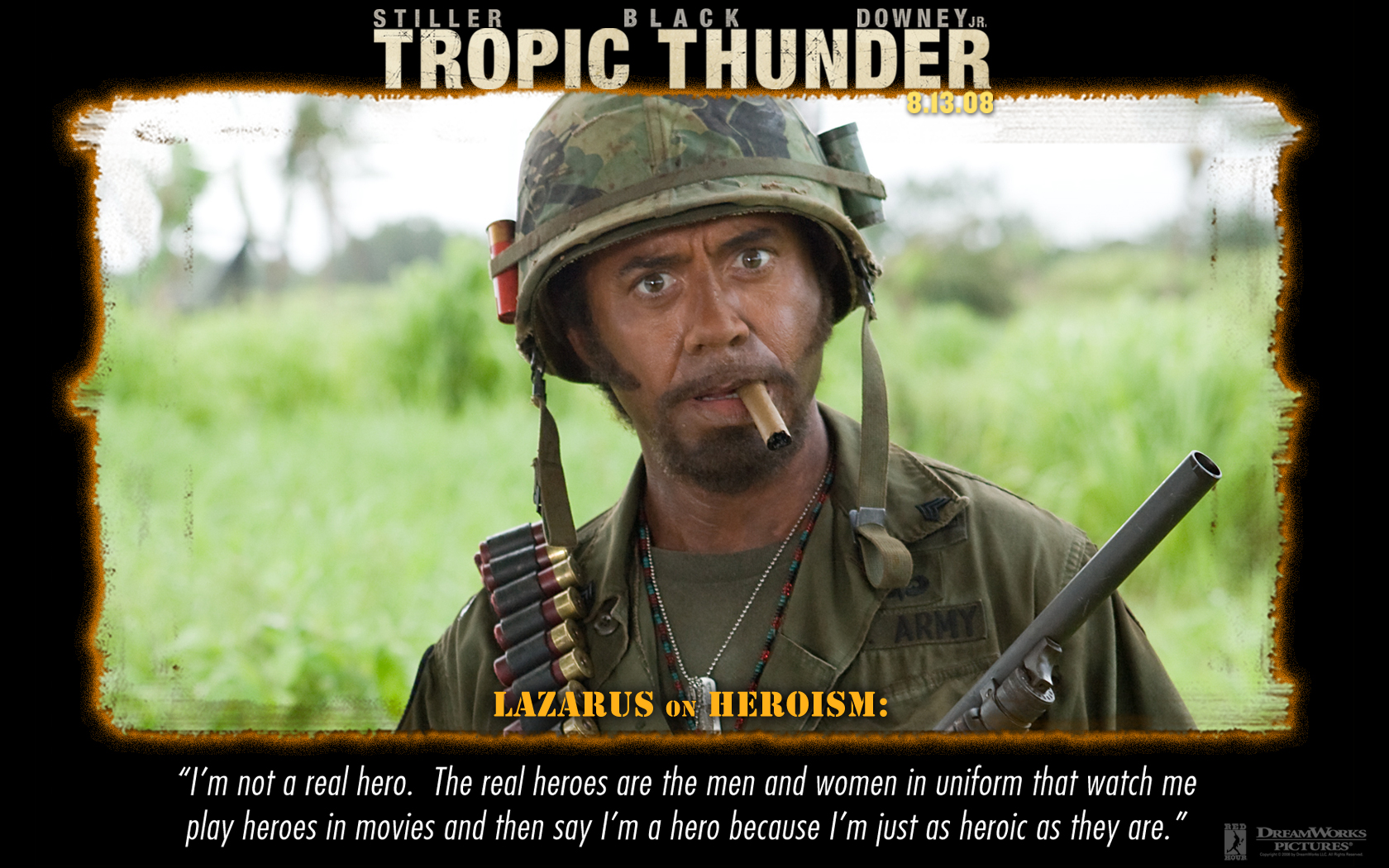 Simple Jack Tropic Thunder Quotes  Quotesgram