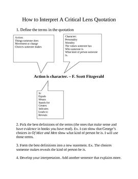 critical lens essay regents prep