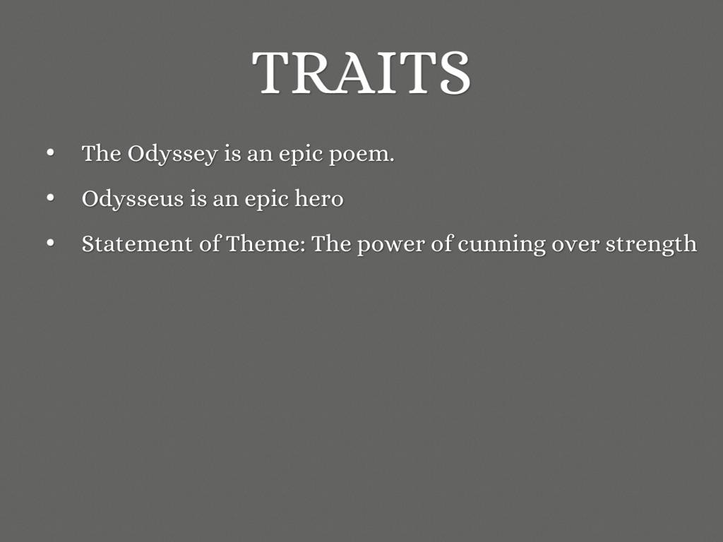 the three proofs of odysseus epic heroism