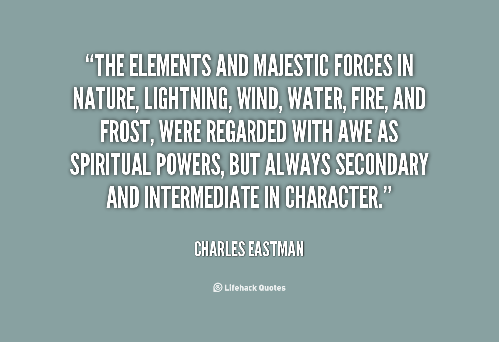 Quotes About The Elements In Nature Quotesgram