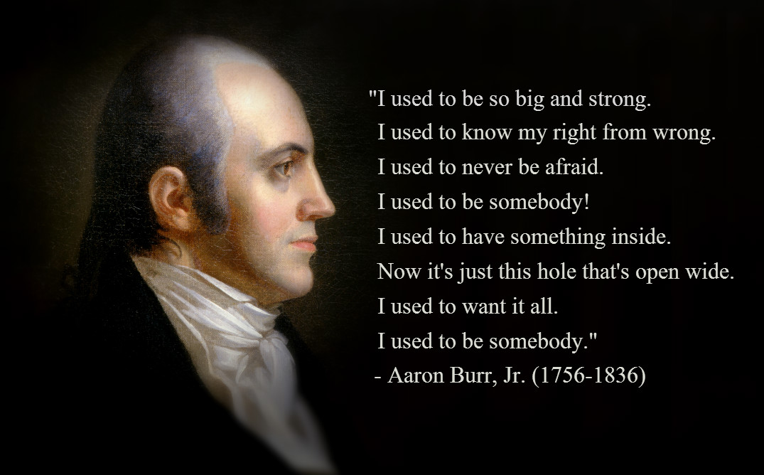 a biography of aaron burr jr the traitor vice president of the united states Aaron burr is sworn in as vice-president of the united states mid-may, 1802 aaron burr alston is born some denounce him as a traitor.