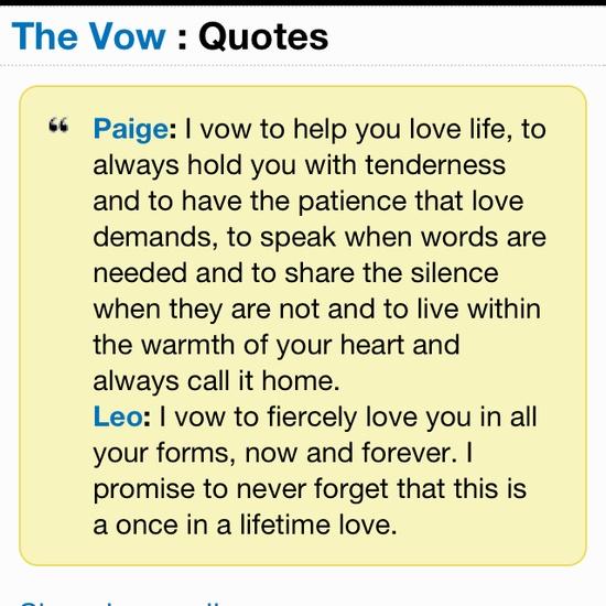 the vow quotes quotesgram