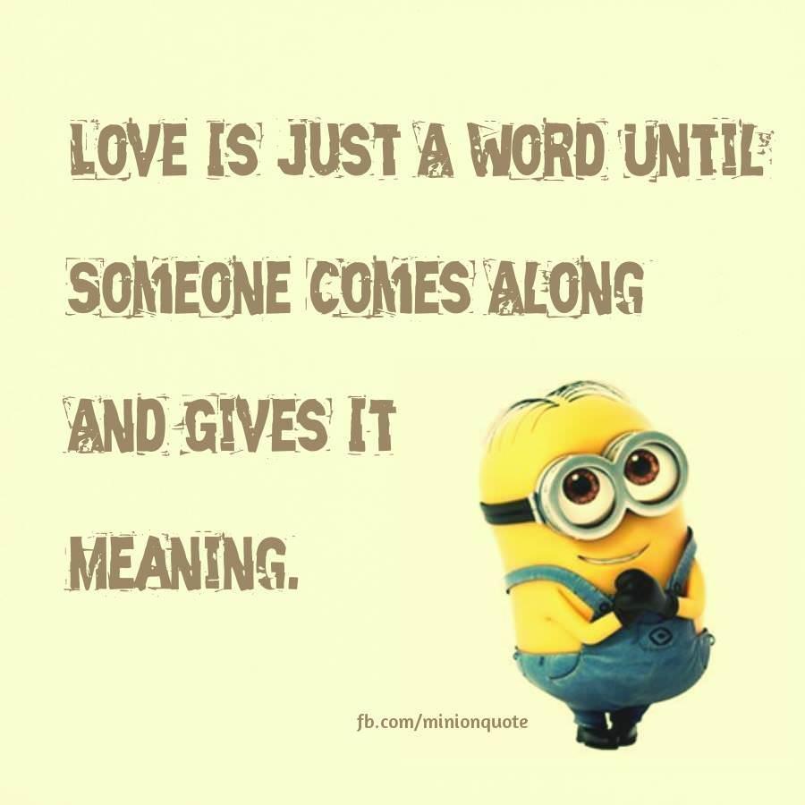 Minion I Love You Quotes Funny: Minion Love Quotes. QuotesGram