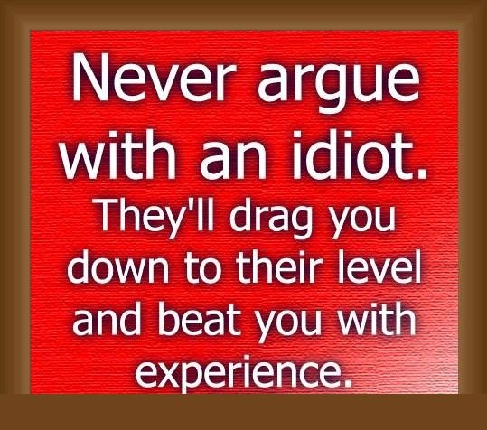 Never Argue With Stupid People Quote: Arguing With Idiots Quotes. QuotesGram