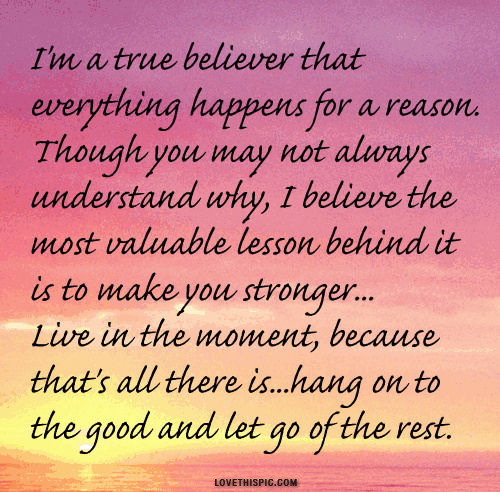 I Like Things To Happen Quote: Things Happen For A Reason Quotes. QuotesGram