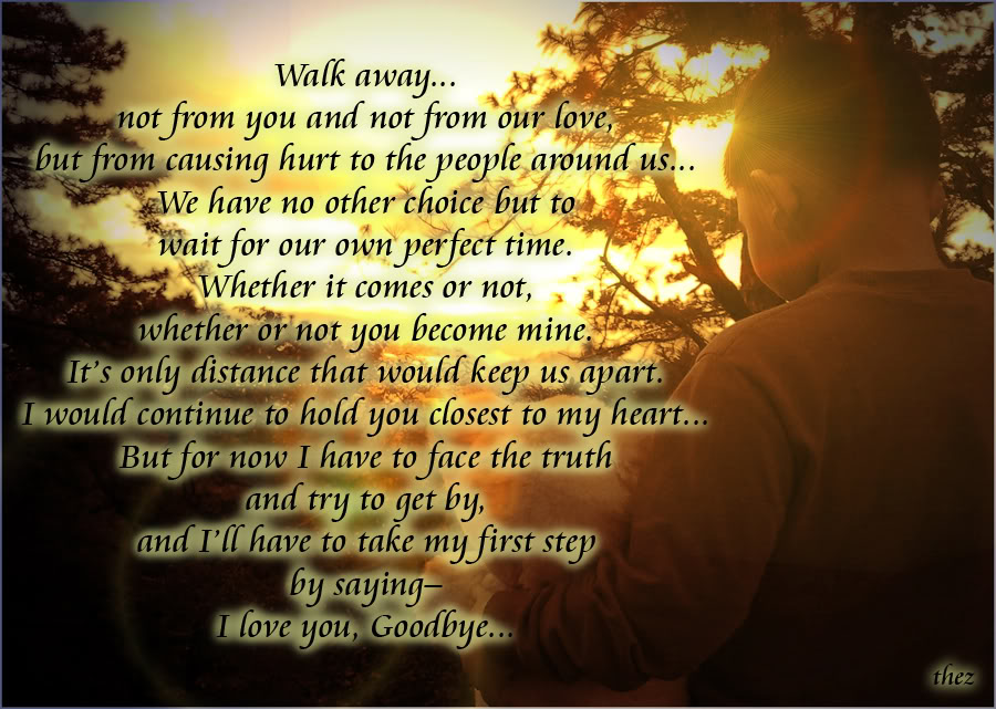 Goodbye Letter To Love Of My Life