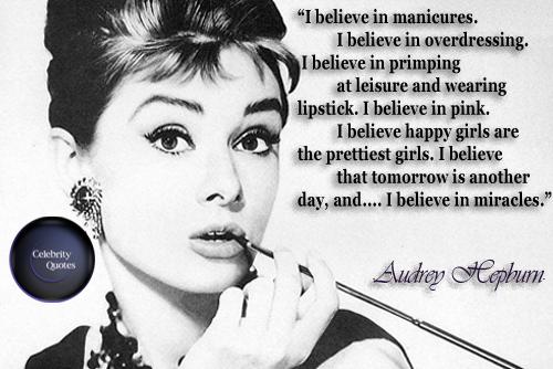 Audrey Hepburn I Believe In Pink Set of Two 13x19 Prints  |Audrey Hepburn Quotes I Believe In Manicures