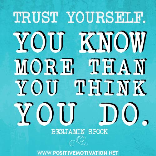 trust yourself quotes quotesgram