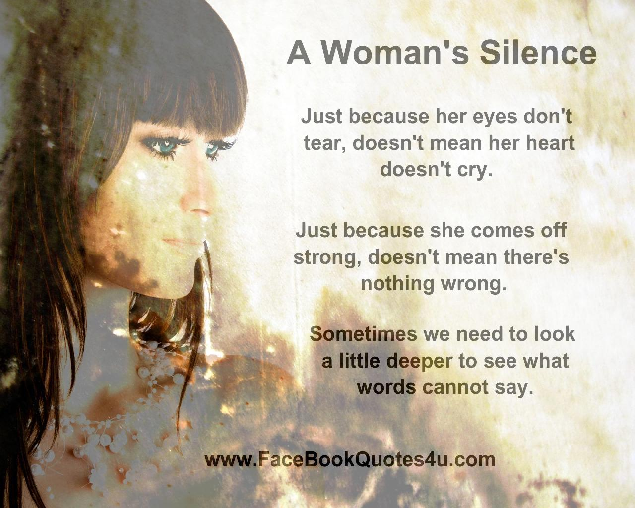 Her Silence Quotes. QuotesGram