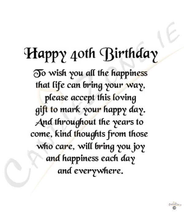 40th Birthday Wishes For A Woman ~ Happy th birthday quotes quotesgram