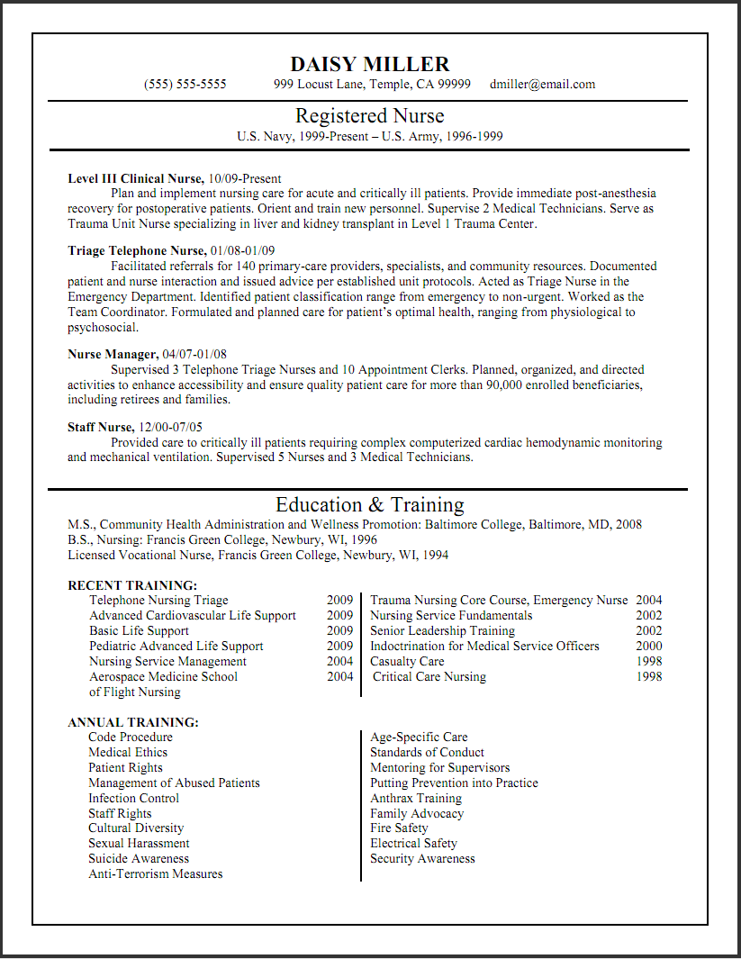 nurse or nursing sample resume example. student nurse resume ...