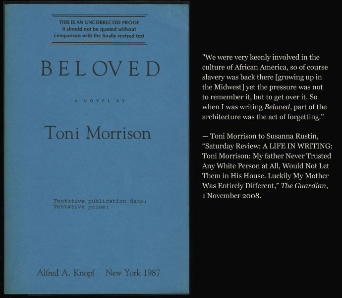 beloved toni morrison essay questions Beloved short answer test - answer key toni morrison this set of lesson plans consists of approximately 111 pages of tests, essay questions.