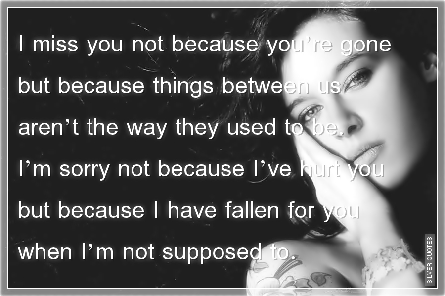Im Sorry I Hurt You Quotes. QuotesGram