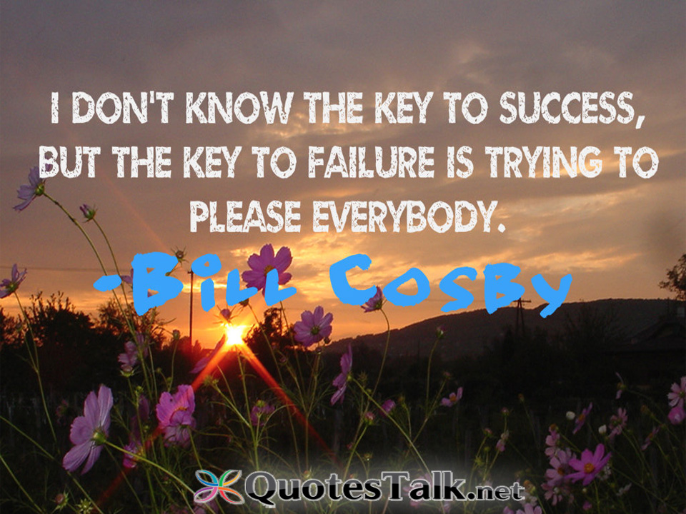 success is key failure is not You are thinking of failure as the enemy of success but it isn't at all you can be discouraged by failure or you can learn from it, so go ahead and make mistakes.
