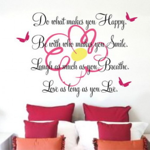 Bedroom wall stickers quotes motivation quotesgram for Bedroom inspiration quotes