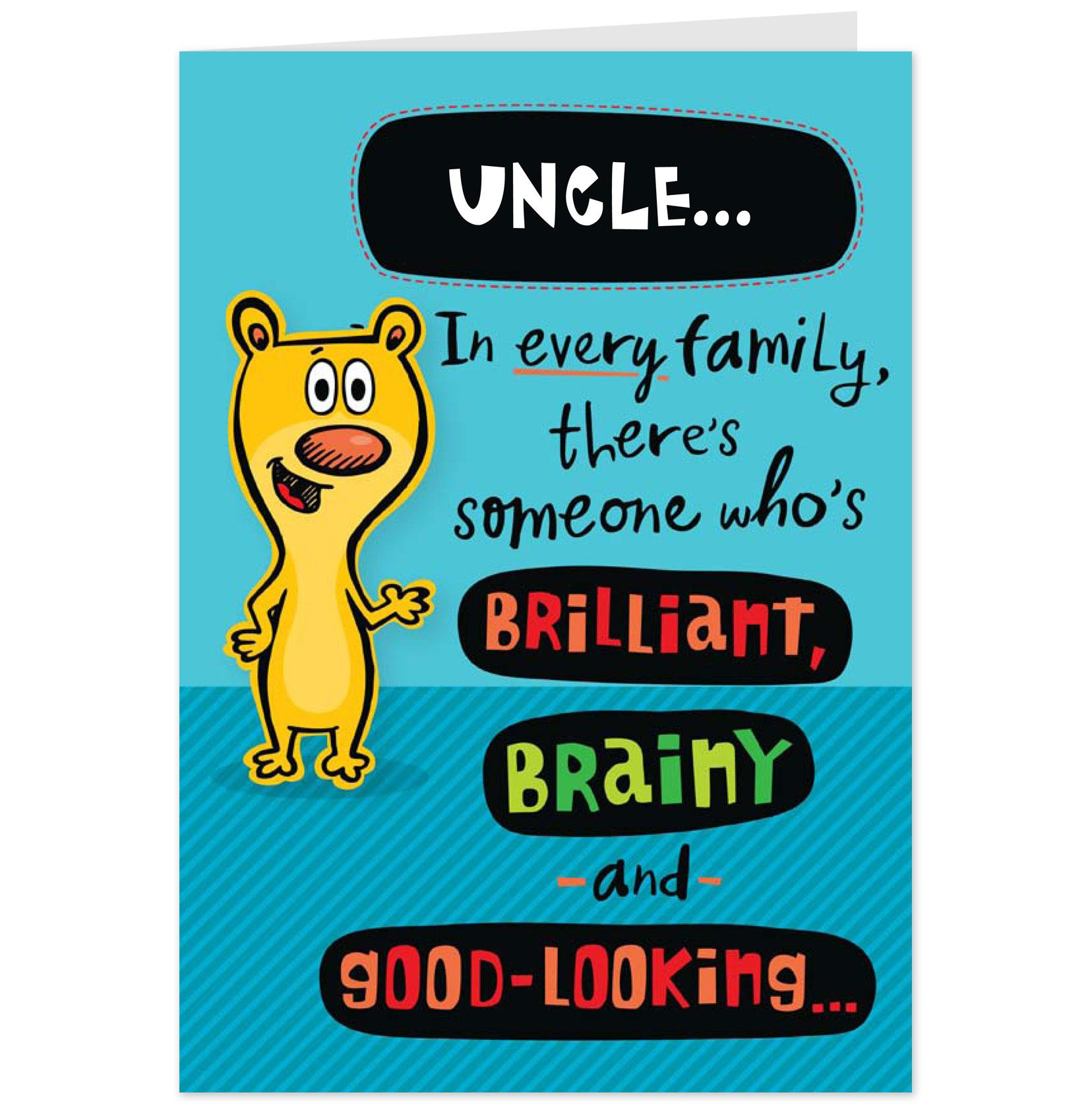 Funny Happy Birthday Uncle Quotes. QuotesGram