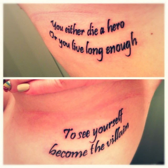 Tattoo Quotes Cost: Heroes Quotes For Tattoos. QuotesGram