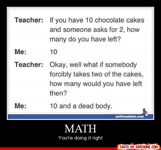 Quotes About Hating Math: Funny Math Quotes For Teachers. QuotesGram