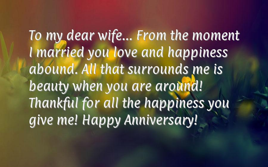 Happy Anniversary To My Wife Quotes Quotesgram