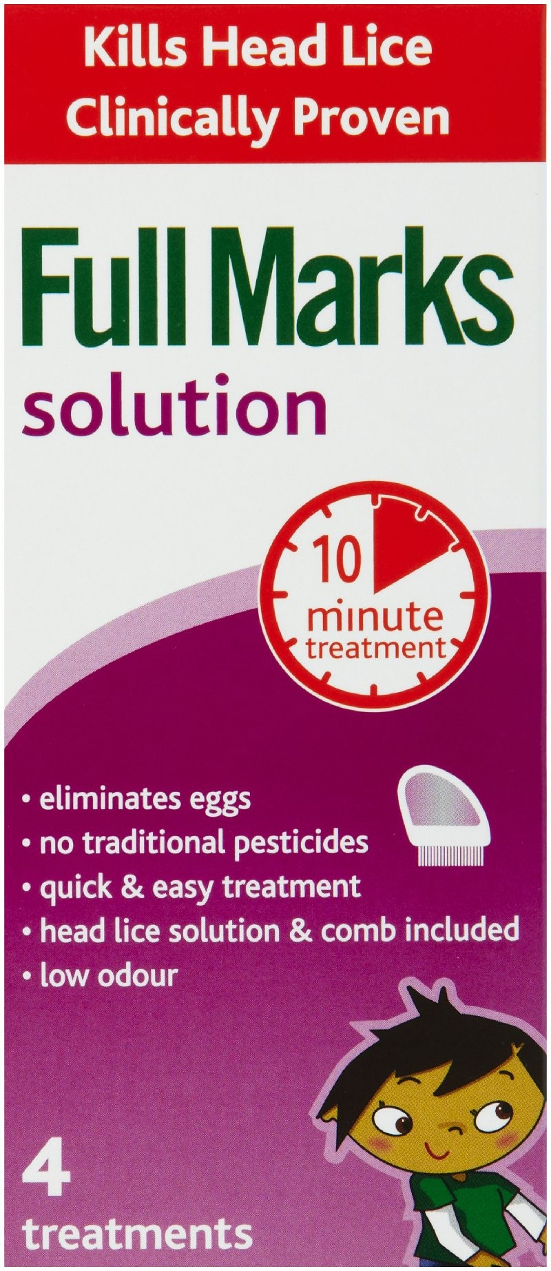 full marks head lice solution instructions