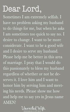 Selfish signs husband a of 7 Signs