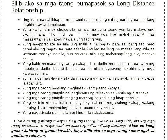 Sweet love letter for boyfriend tagalog