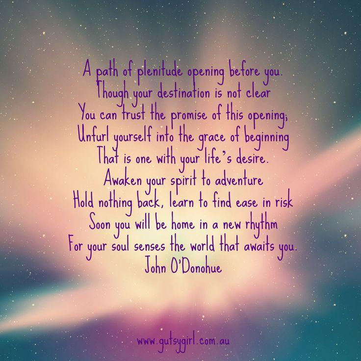 New Beginnings Tumblr Quotes: John O'Donohue Quotes. QuotesGram