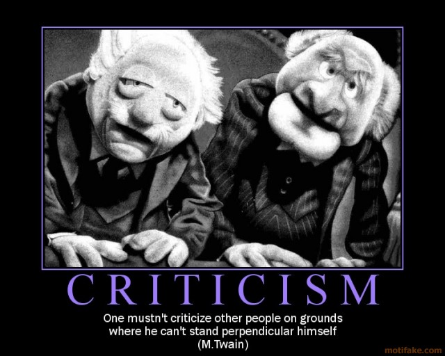 Negative Criticism Quotes Quotesgram