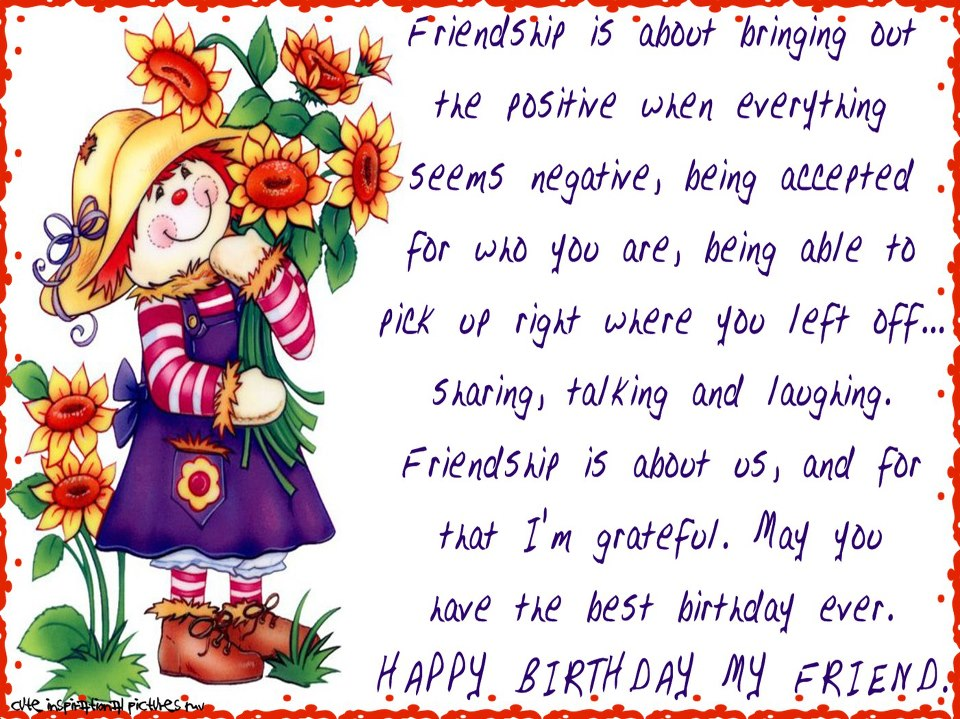 Happy Birthday Wishes For Best Friend Quotes Quotesgram