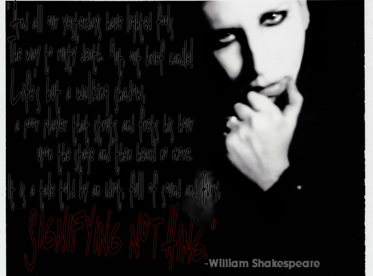 Marilyn manson no reason