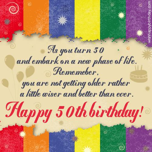 Inspirational Quotes For 50th Birthday. QuotesGram