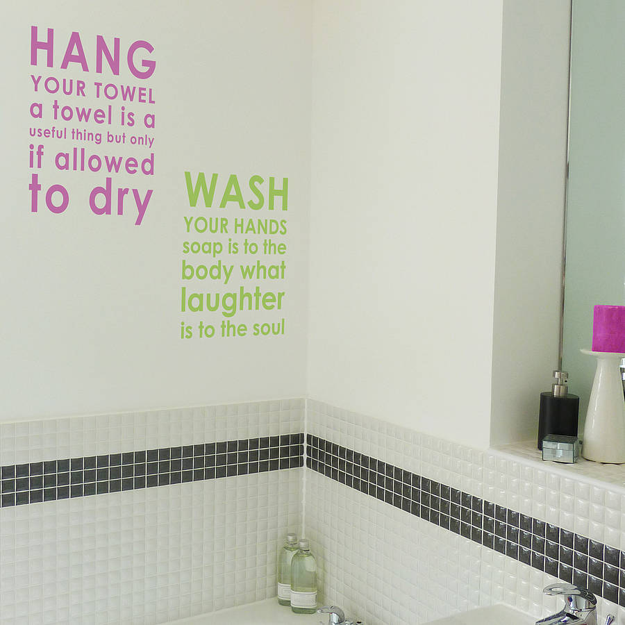 Bathroom wall quotes quotesgram for Bathroom quote ideas