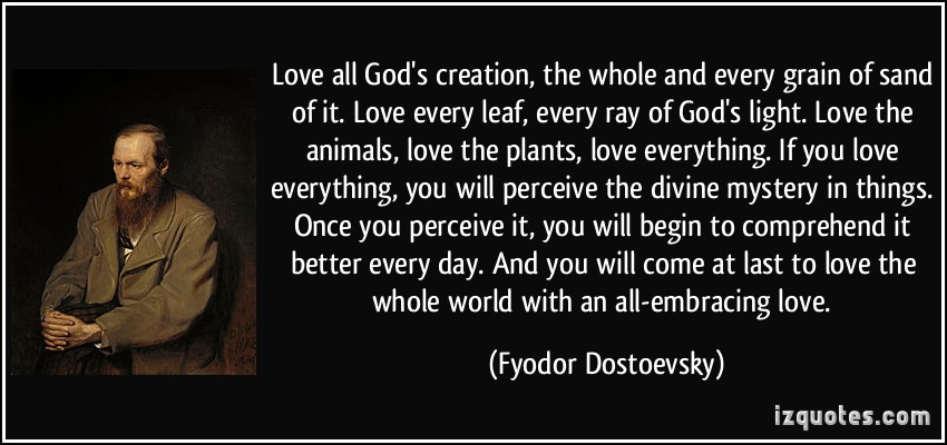 essay on to love gods creation is to love god