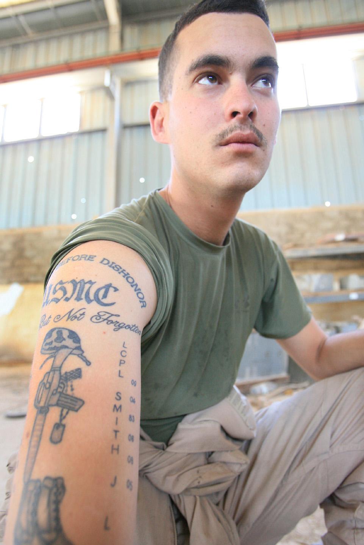 R Lee Ermey Tattoo Weight Lifting Tattoo ...