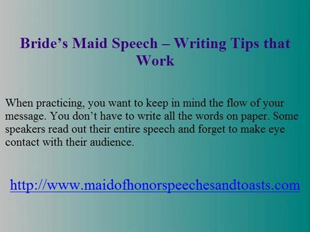 Wedding Speech Maid Of Honor Funny Write Me A Essay
