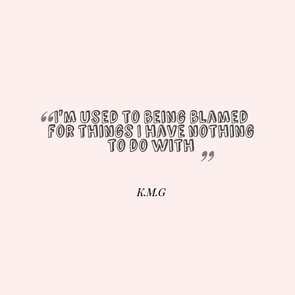 Quotes About Being Blamed Quotesgram