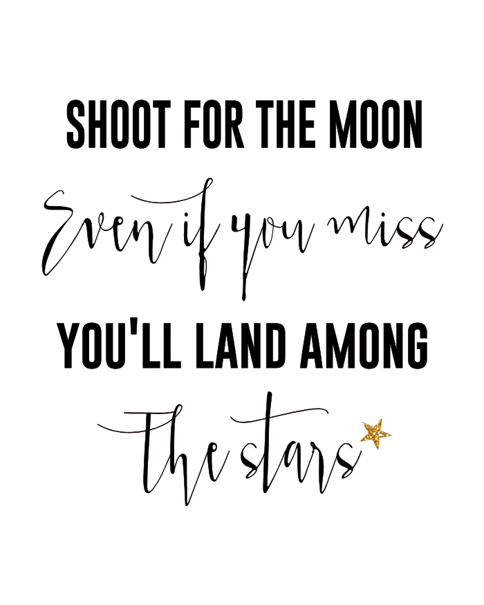Printable Love Quotes And Sayings: Shoot For The Moon Quotes And Sayings. QuotesGram