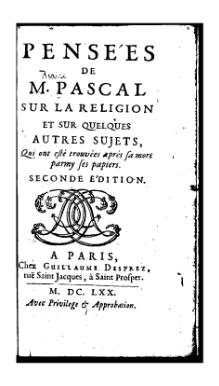 Blaise Pascal Philosophy Summary