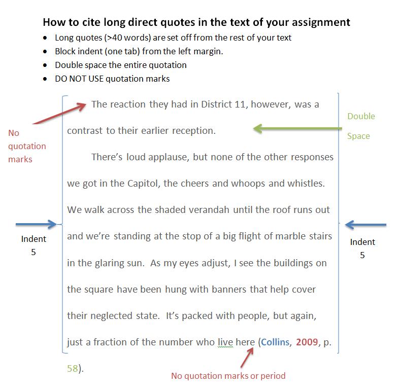 Apa Quote Format: Direct Quotes Apa In Text. QuotesGram