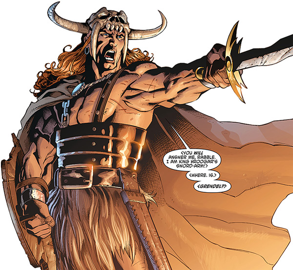 the courageous and strong hero in beowulf Beowulf is the hero beowulf is an epic hero he is important and needed by his people and is known by many as a strong, courageous and a helpful person.