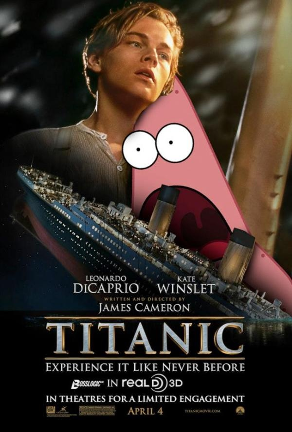 funny movie poster parodies movies titanic patrick spongebob surprised posters quotes star squarepants memes 2000 romantic hilarious background hd rowsdowr