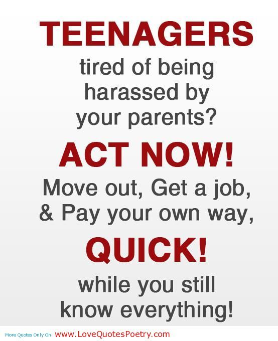 Funny Quotes About Parenting Teens Quotesgram